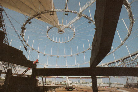 Compression Ring Roof Structure Brasilia Stadium Cable Net
